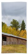 Colorado Rustic Autumn High Country Barn Beach Towel