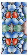 Colored Rocks Design Beach Towel
