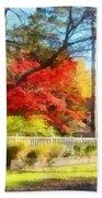 Colorful Autumn Street Beach Towel