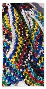 Colorful Beads Jewelery Beach Towel