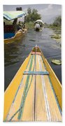 Colorful Boats On Dal Lake Dal Lake Beach Towel