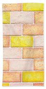 Colorful Brick Wall Beach Towel