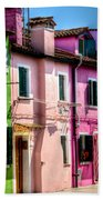 Colorful Burano Italy Beach Towel