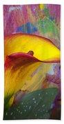 Colorful Calla Lily Beach Towel