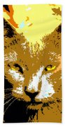 Colorful Cat Beach Towel
