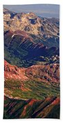 Colorful Colorado Rocky Mountains Planet Art Beach Towel by James BO  Insogna
