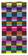 Colorful Cubes Beach Towel