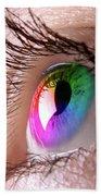 Colorful Eye Beach Towel