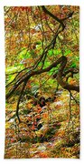 Colorful Maple Leaves Beach Towel