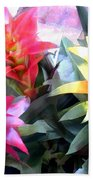 Colorful Mixed Bromeliads Beach Towel