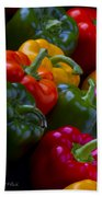 Colorful Peppers Beach Towel