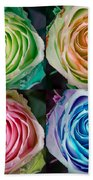 Colorful Rose Spirals Beach Towel