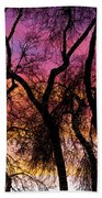 Colorful Silhouetted Trees 27 Beach Towel