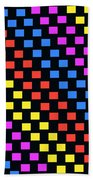 Colorful Squares Beach Towel by Louisa Knight