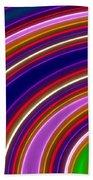Colorful Swirls Beach Towel