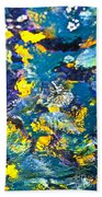 Colorful Tropical Fish Beach Towel by Elena Elisseeva