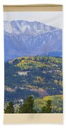 Colorful Rocky Mountain Autumn Picture Window View Beach Towel