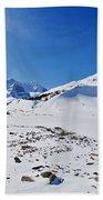 Columbia Icefield In Winter, Jasper Beach Towel