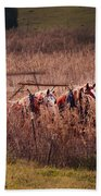 Combining Soybeans Beach Towel