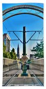 Coming And Going Downtown Main St Beach Towel