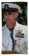 Command Master Chief Bryan Yarbro Beach Towel