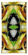 Compassion - Card X From The Tarot Of Flowers Beach Towel