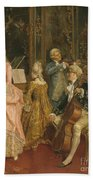 Concert At The Time Of Mozart Beach Towel by Ettore Simonetti