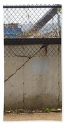 Concrete And Rusty Fence Beach Towel