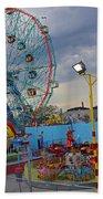 Coney Island Amusements Beach Towel