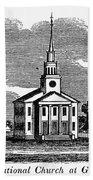 Connecticut: Church, 1836 Beach Towel