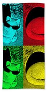 Cool Cat Pop Art Beach Towel