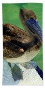 Cool Footed Pelican Beach Towel