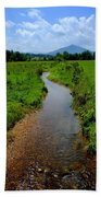 Cool Mountain Stream Beach Towel by Frozen in Time Fine Art Photography