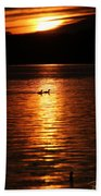 Coots In The Sunset Beach Towel