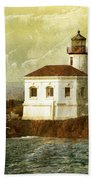 Coquille River Lighthouse Beach Towel