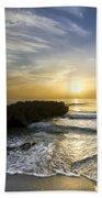 Coral Shoreline Beach Towel