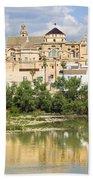Cordoba Cathedral And Guadalquivir River Beach Towel