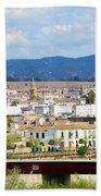 Cordoba Cityscape In Spain Beach Towel