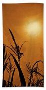 Corn Field Haze  Beach Towel