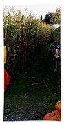 Corn Maze Beach Towel