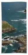 Cornish Seascape St Agnes  Beach Towel