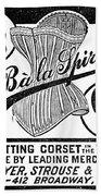 Corset Advertisement, 1888 Beach Towel