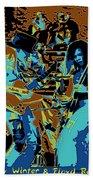Cosmic Winter Blues 1975 Beach Towel