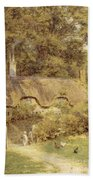 Cottage At Farringford Isle Of Wight Beach Towel