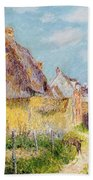 Cottage At Le Vaudreuil Beach Towel by Gustave Loiseau