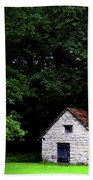 Cottage In The Woods Beach Towel by Fabrizio Troiani