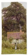 Cottage Near Brook  Beach Towel