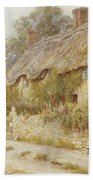 Cottage Near Wells Somerset Beach Towel by Helen Allingham