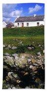 Cottage On Achill Island, County Mayo Beach Towel