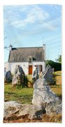 Cottage With Standing Stones Beach Towel